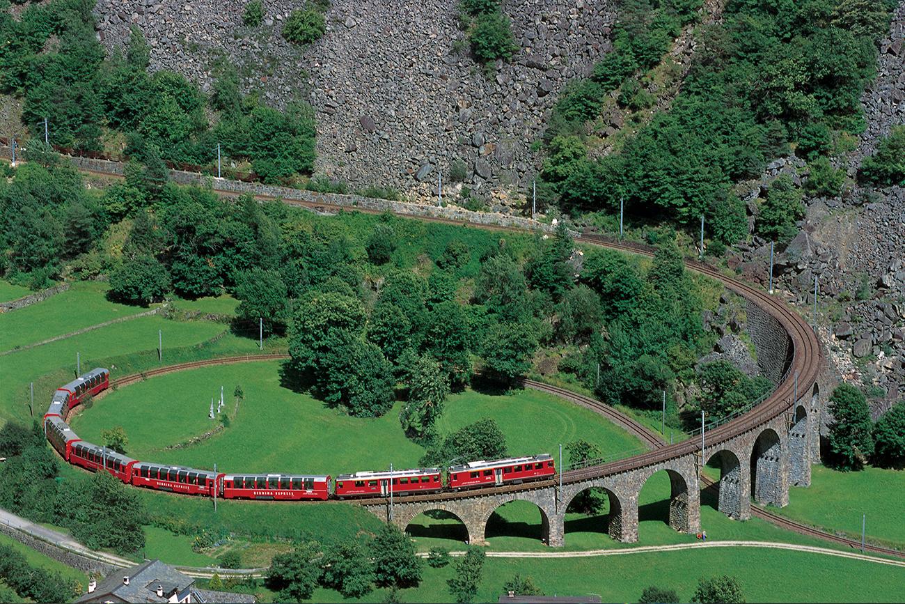 vacanze in treno sul Bernina